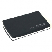 USB 3.0 Aluminum 2.5 SATA HDD External Enclosure - Black