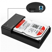 ORICO Tool-Free USB 3.0 & eSATA to 2.5 & 3.5  SATA External Hard Disk Drive Lay-Flat Docking Station [Support 8TB]- Black