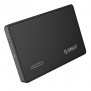 ORICO 2588US-BK Portable Tool Free 2.5 inch SATA to USB 2.0 Hard Drive External Enclosure Case
