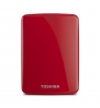 Toshiba Canvio Connect 1TB Portable Hard Drive, Red (HDTC710XR3A1)