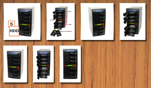 Systor Systems 1:5 sata hard disk drive (hdd/ssd) duplicator/sanitizer high speed (120mb/sec)